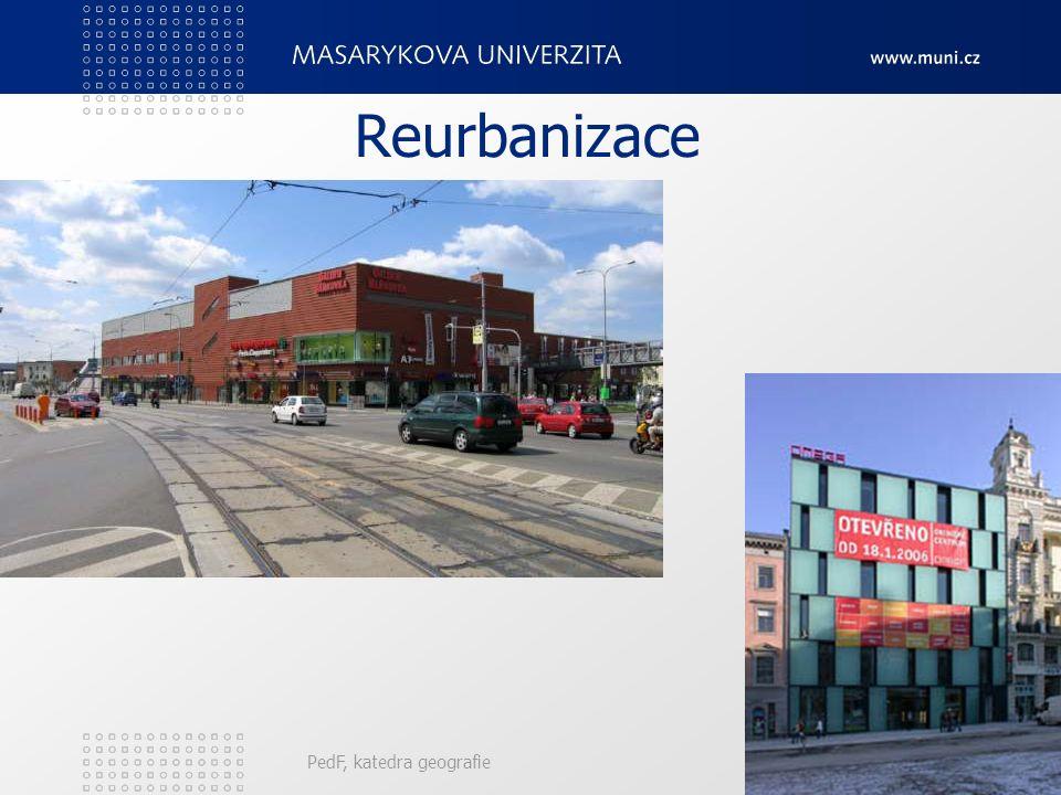 Reurbanizace PedF, katedra geografie