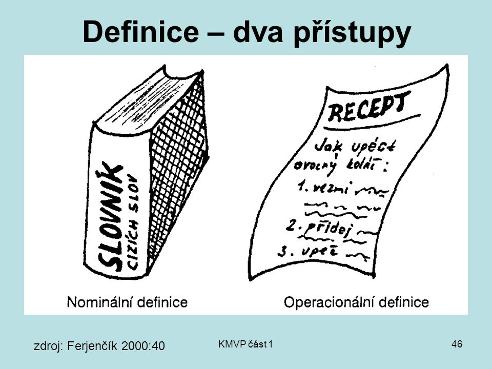 Definice – dva přístupy