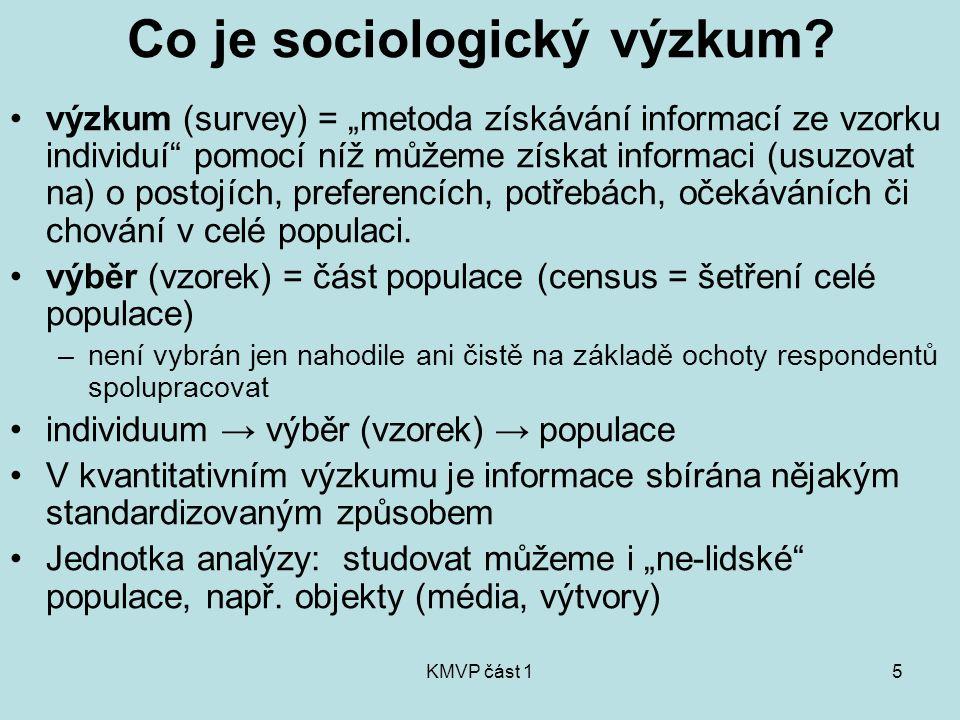 Co je sociologický výzkum