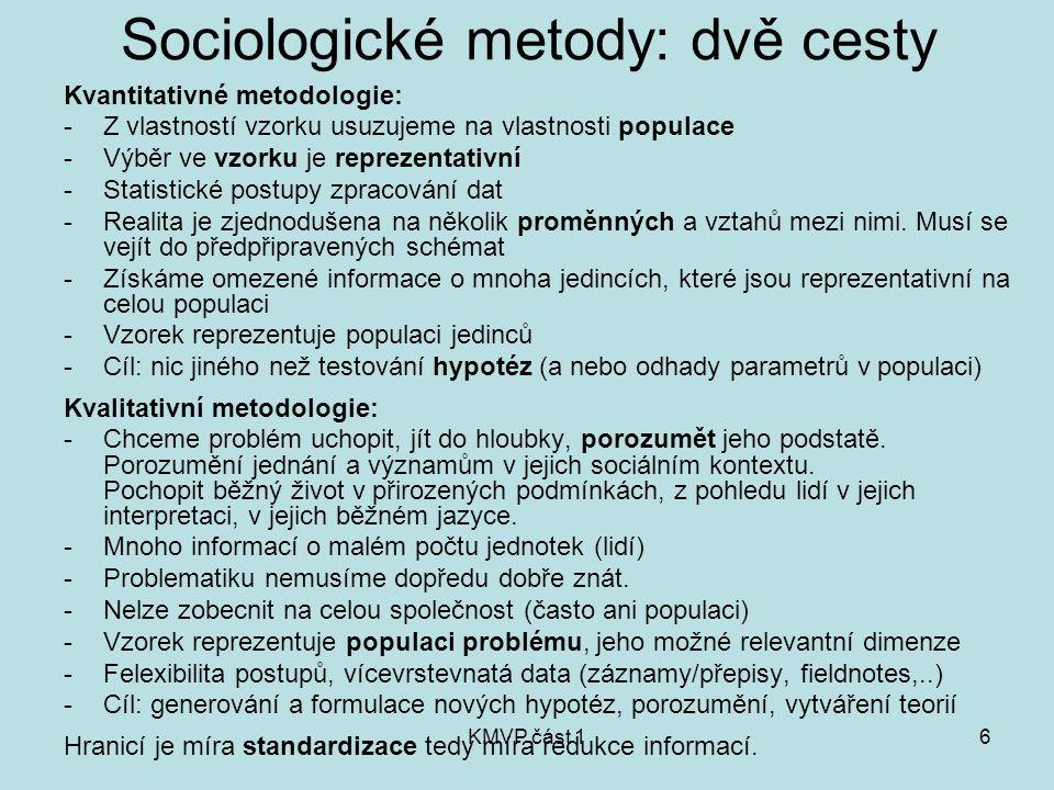 Sociologické metody: dvě cesty