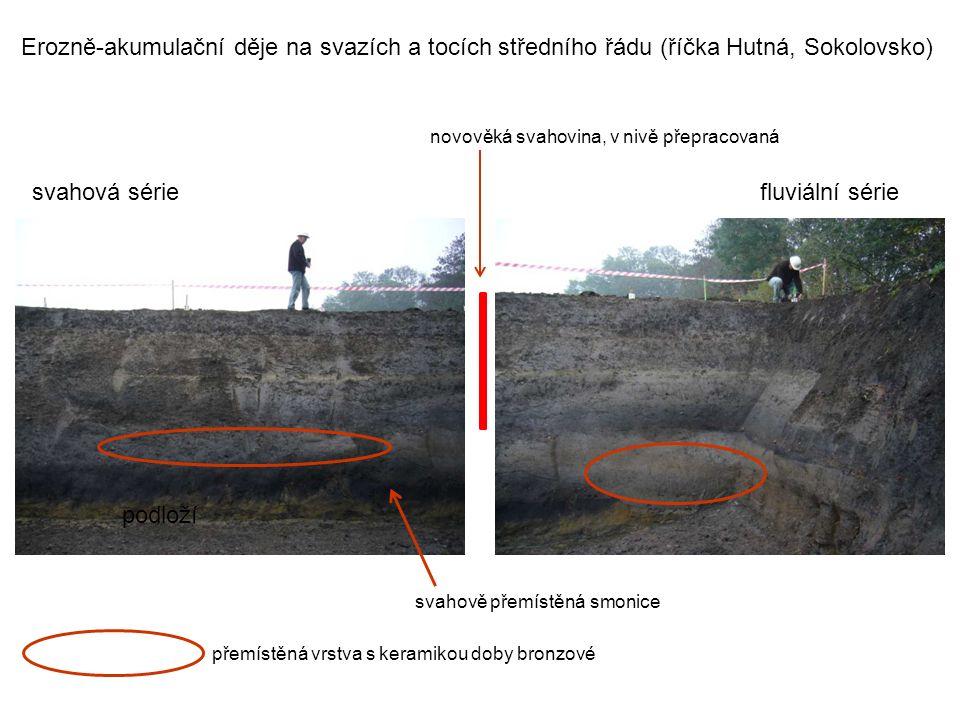 Erozně-akumulační děje na svazích a tocích středního řádu (říčka Hutná, Sokolovsko)
