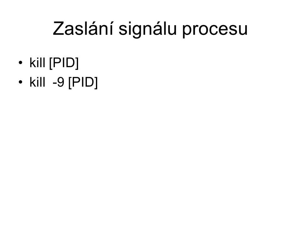 Zaslání signálu procesu