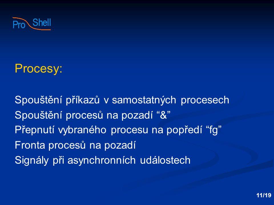 Procesy: Spouštění příkazů v samostatných procesech