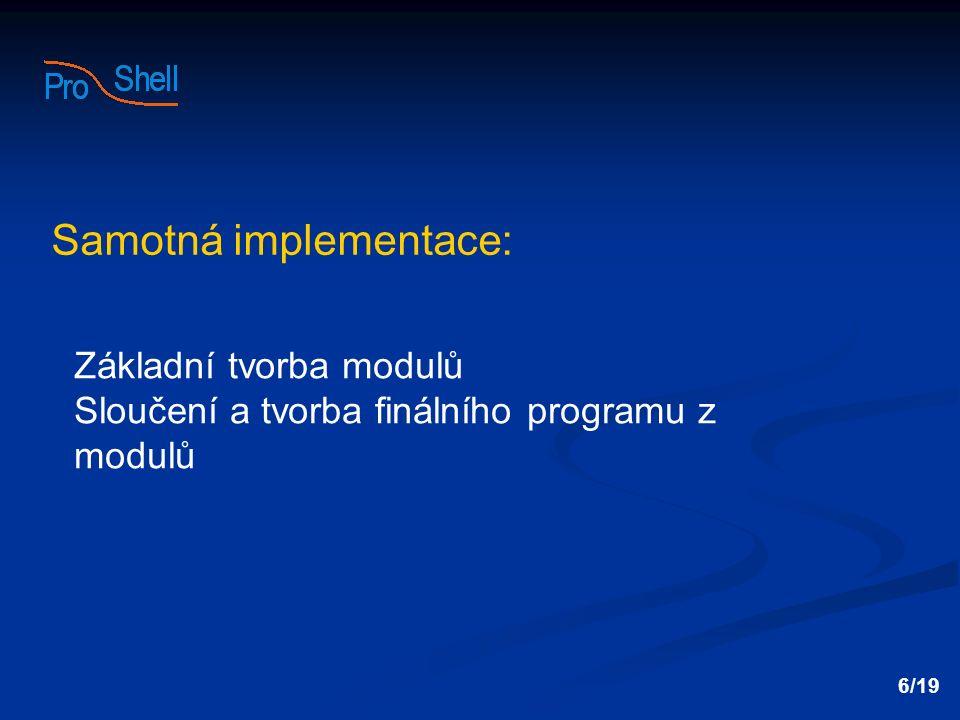 Samotná implementace: