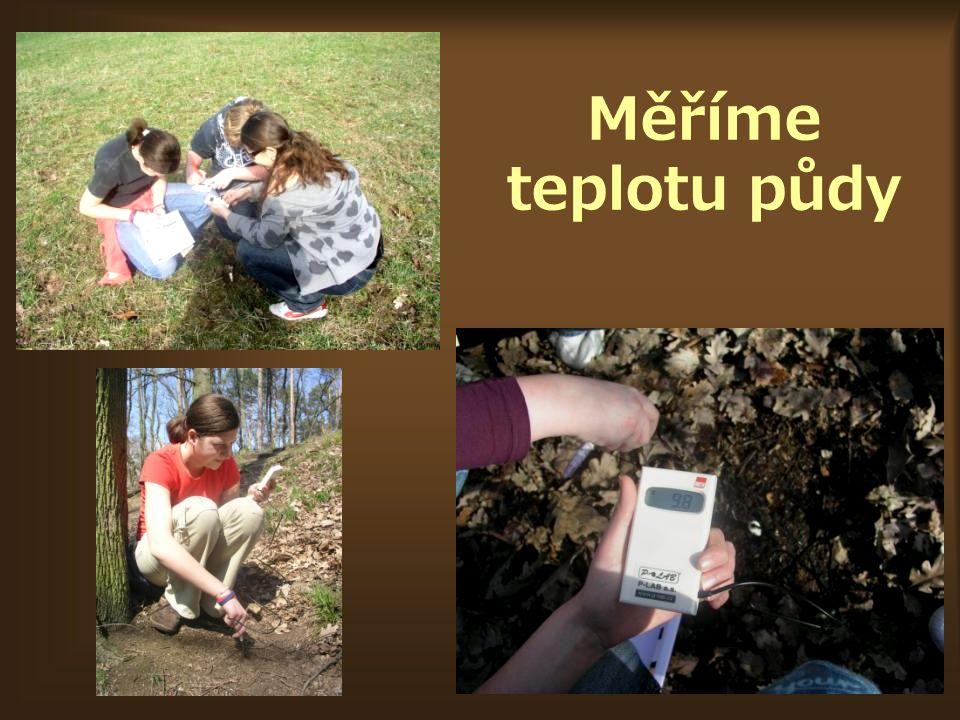 Měříme teplotu půdy