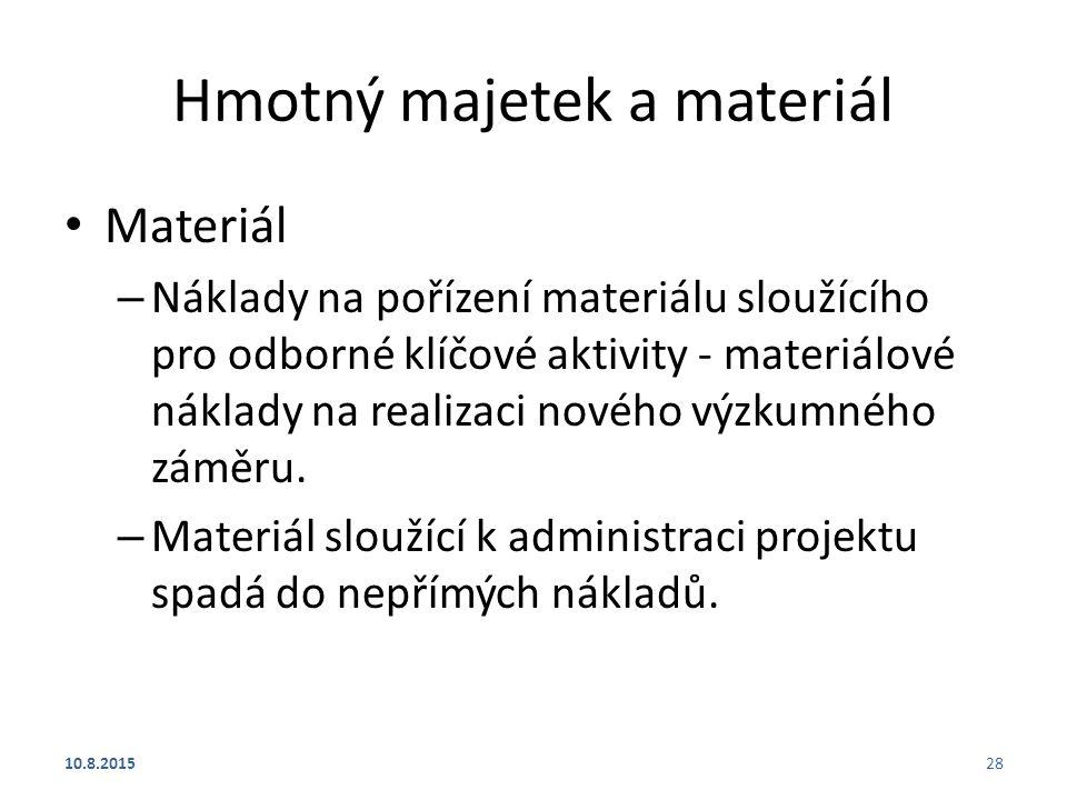 Hmotný majetek a materiál