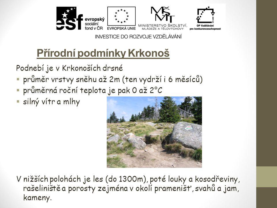 Přírodní podmínky Krkonoš