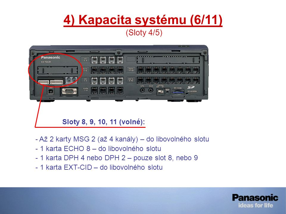 4) Kapacita systému (6/11) (Sloty 4/5)