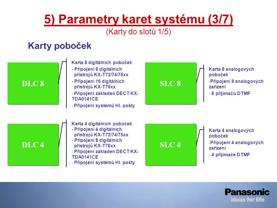 5) Parametry karet systému (3/7)