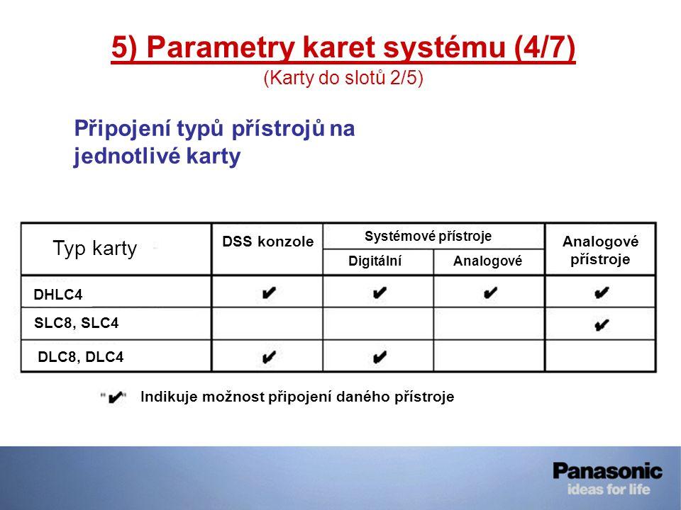 5) Parametry karet systému (4/7)