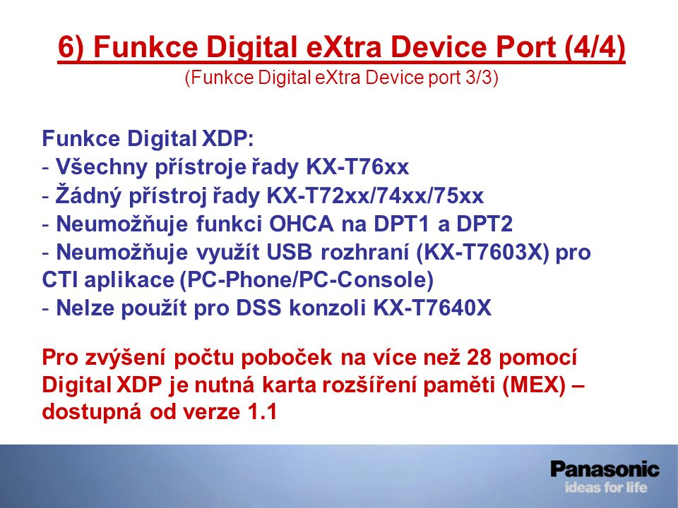 6) Funkce Digital eXtra Device Port (4/4)