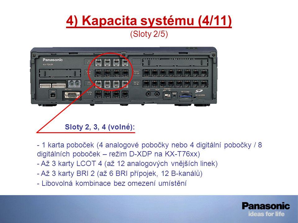 4) Kapacita systému (4/11) (Sloty 2/5)