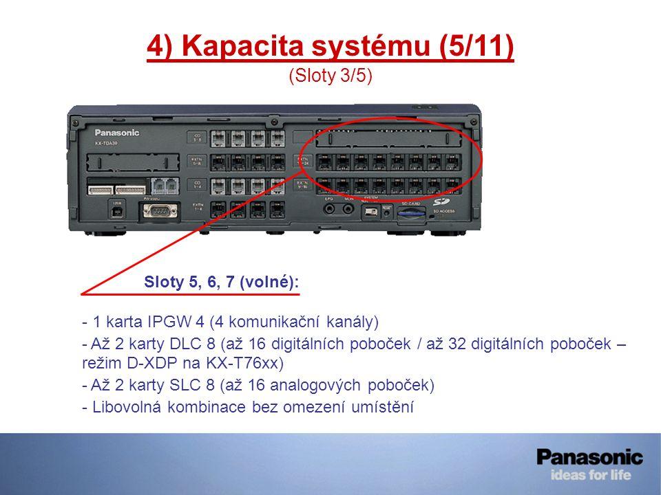 4) Kapacita systému (5/11) (Sloty 3/5)