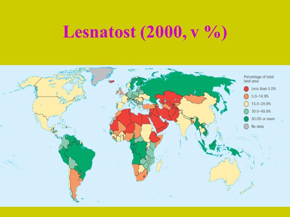 Lesnatost (2000, v %)