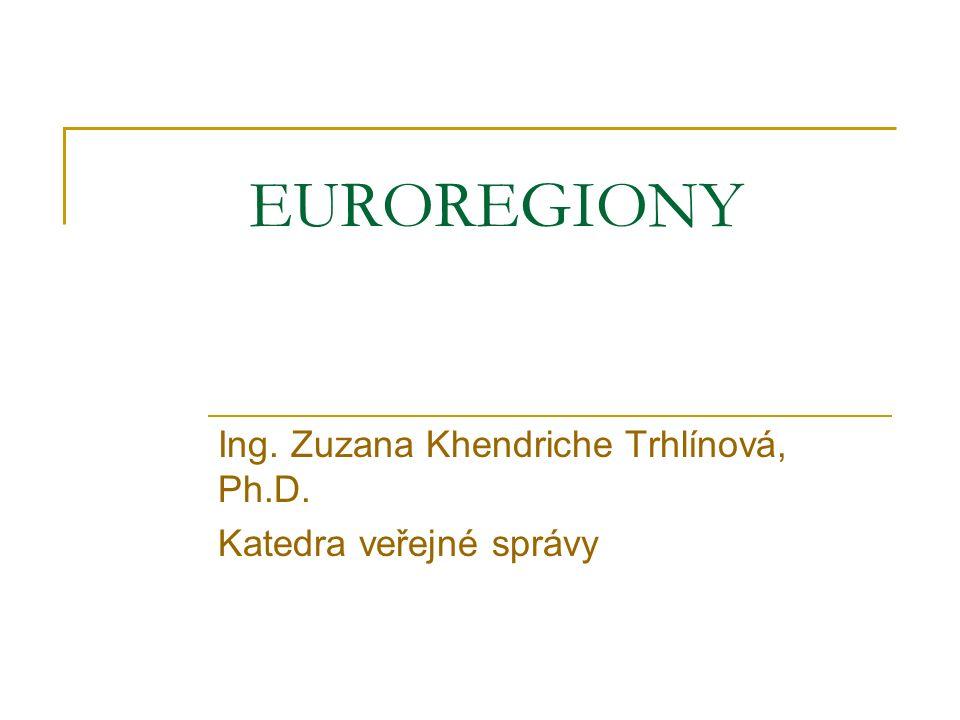 Ing. Zuzana Khendriche Trhlínová, Ph.D. Katedra veřejné správy