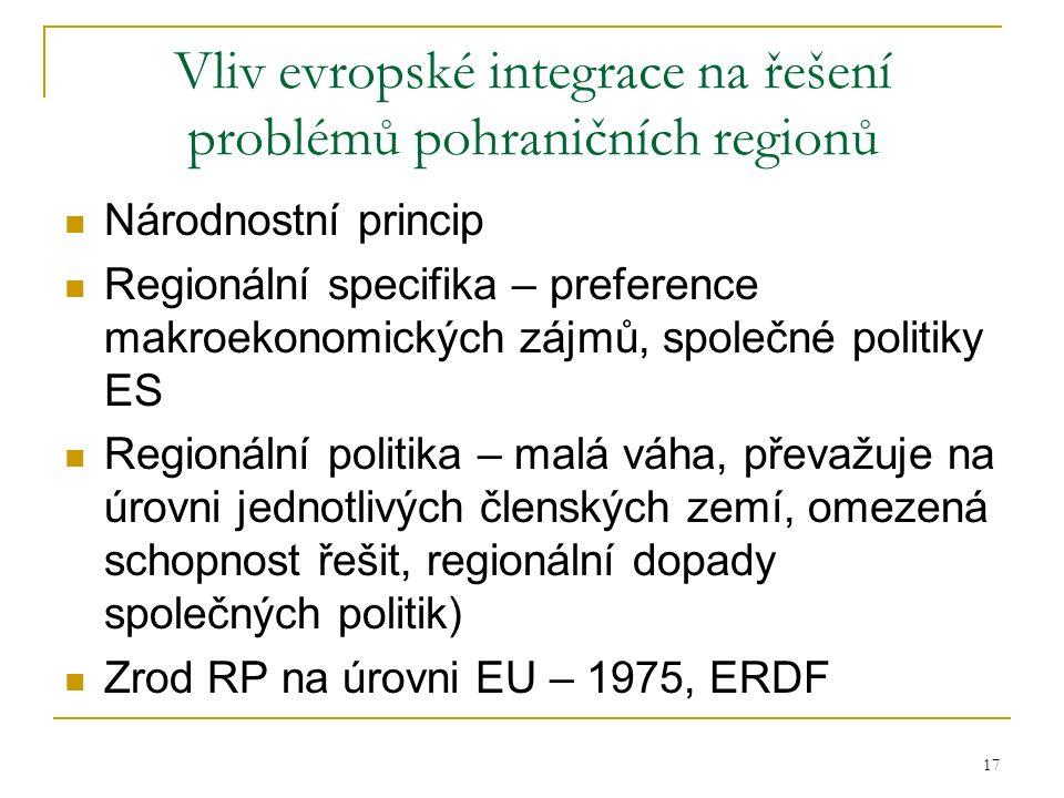Vliv evropské integrace na řešení problémů pohraničních regionů