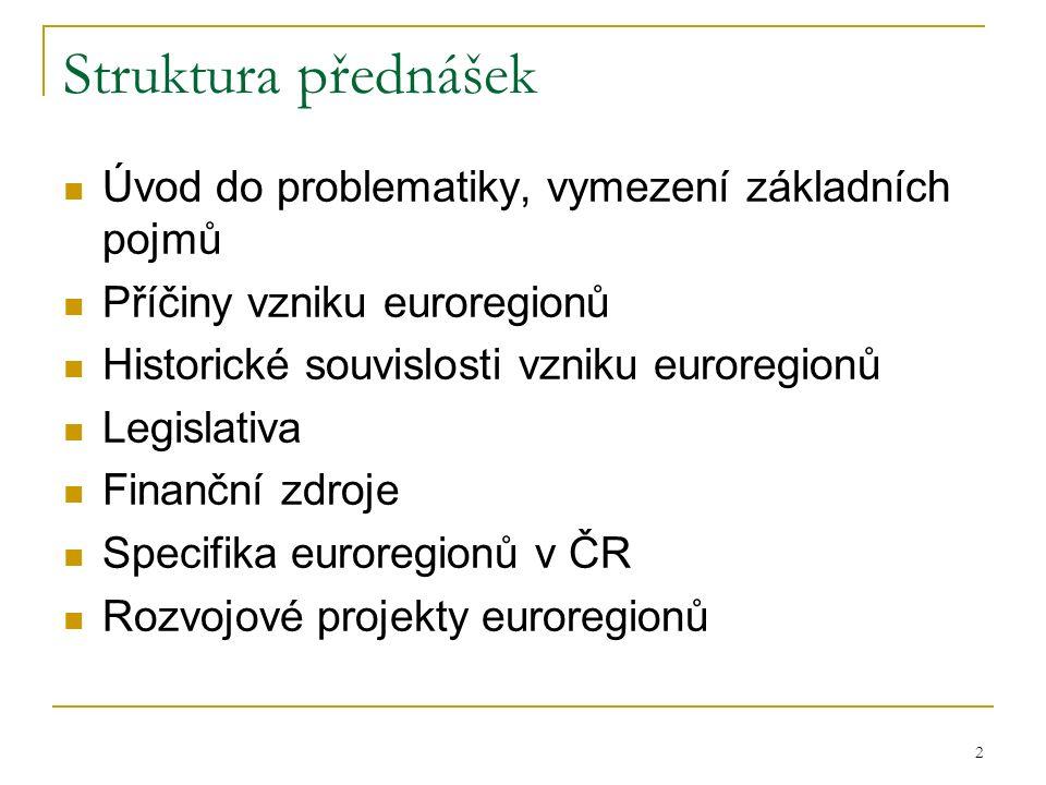 Struktura přednášek Úvod do problematiky, vymezení základních pojmů