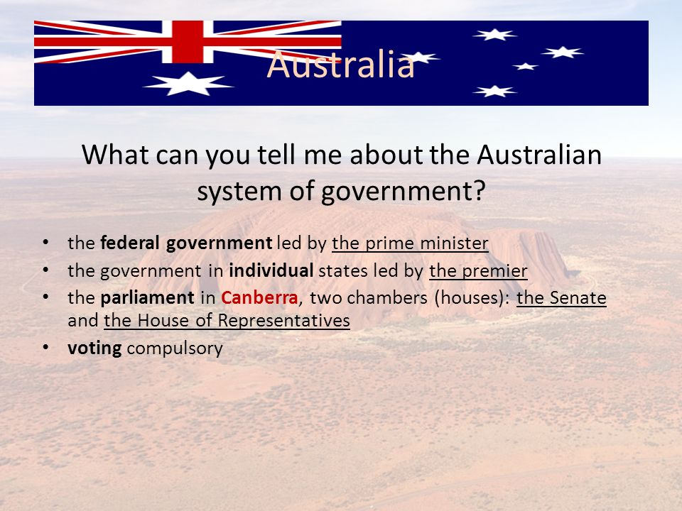 What can you tell me about the Australian system of government