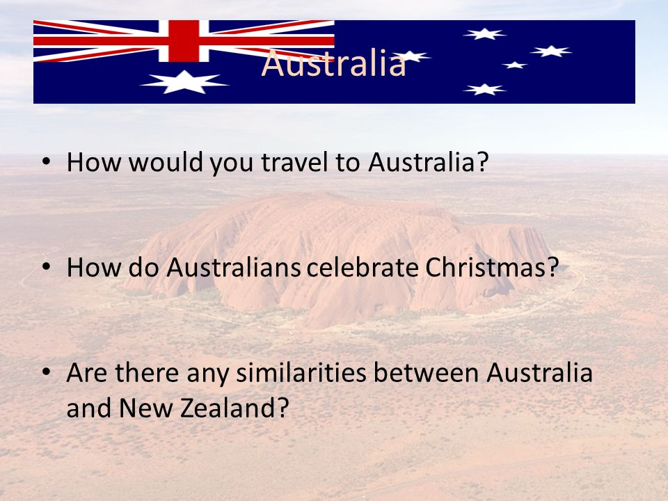 Australia How would you travel to Australia