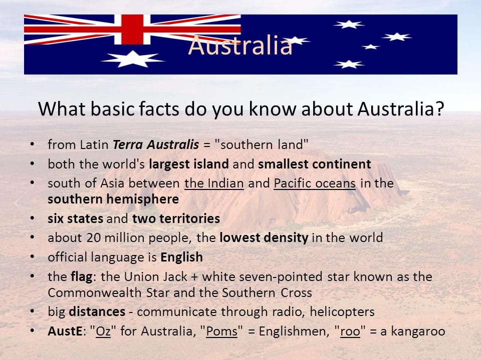 What basic facts do you know about Australia