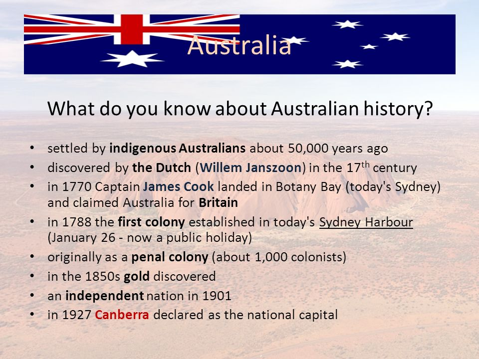 What do you know about Australian history