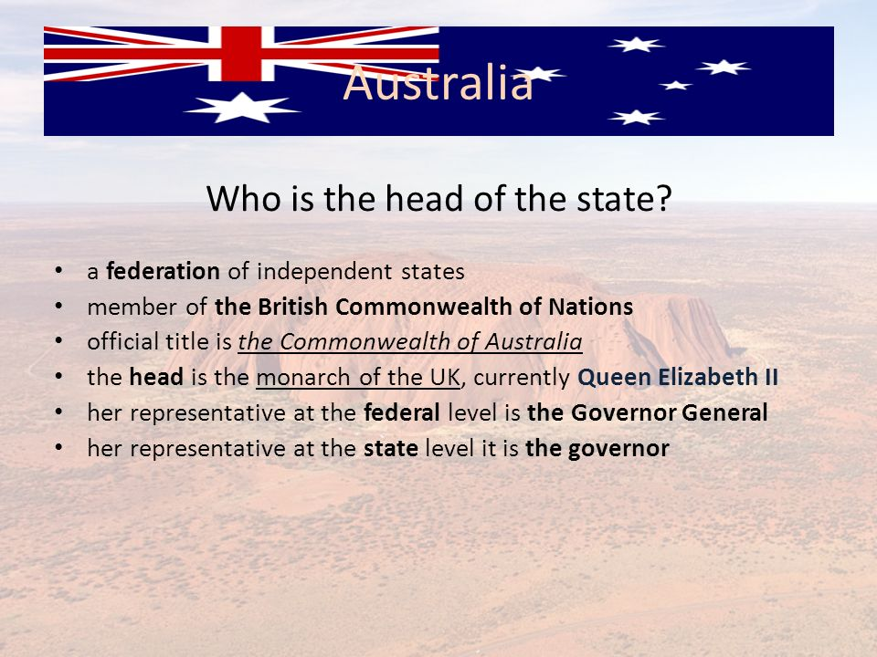 Who is the head of the state