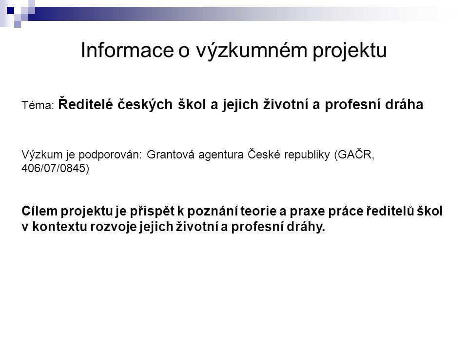 Informace o výzkumném projektu