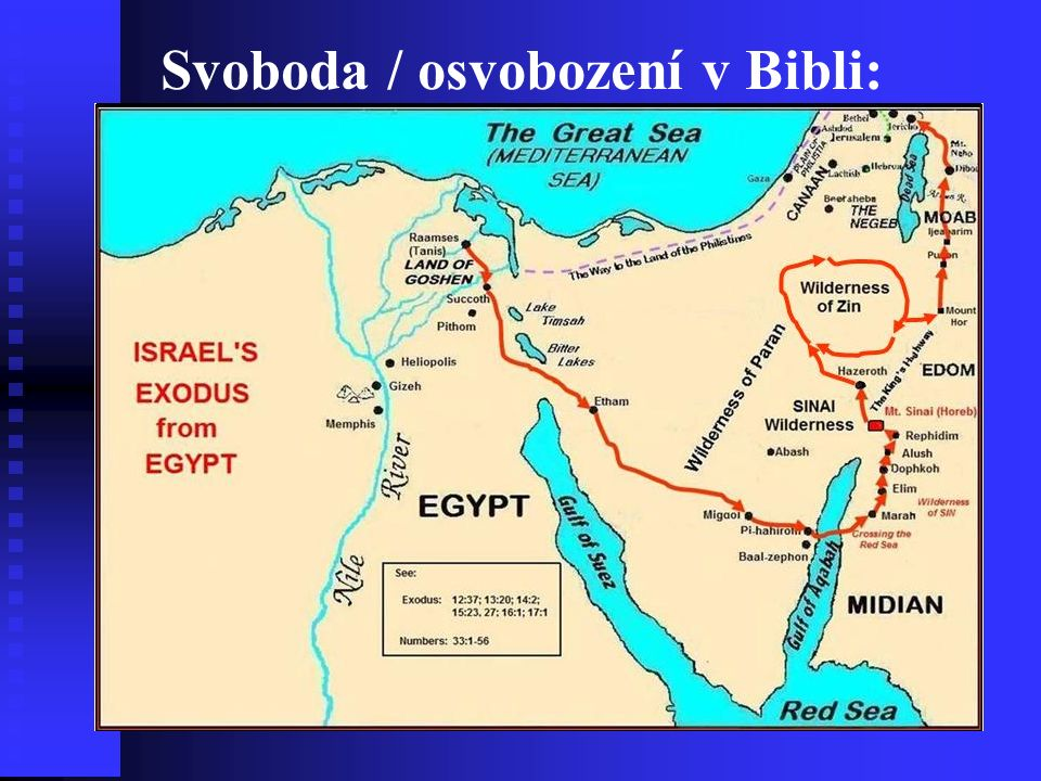 Svoboda / osvobození v Bibli: