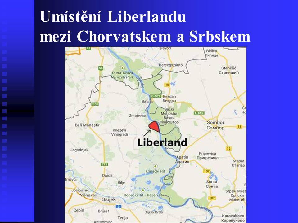 Umístění Liberlandu mezi Chorvatskem a Srbskem
