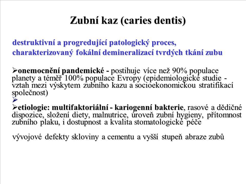 Zubní kaz (caries dentis)