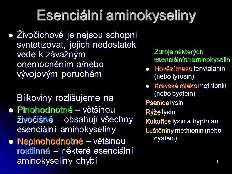 Esenciální aminokyseliny