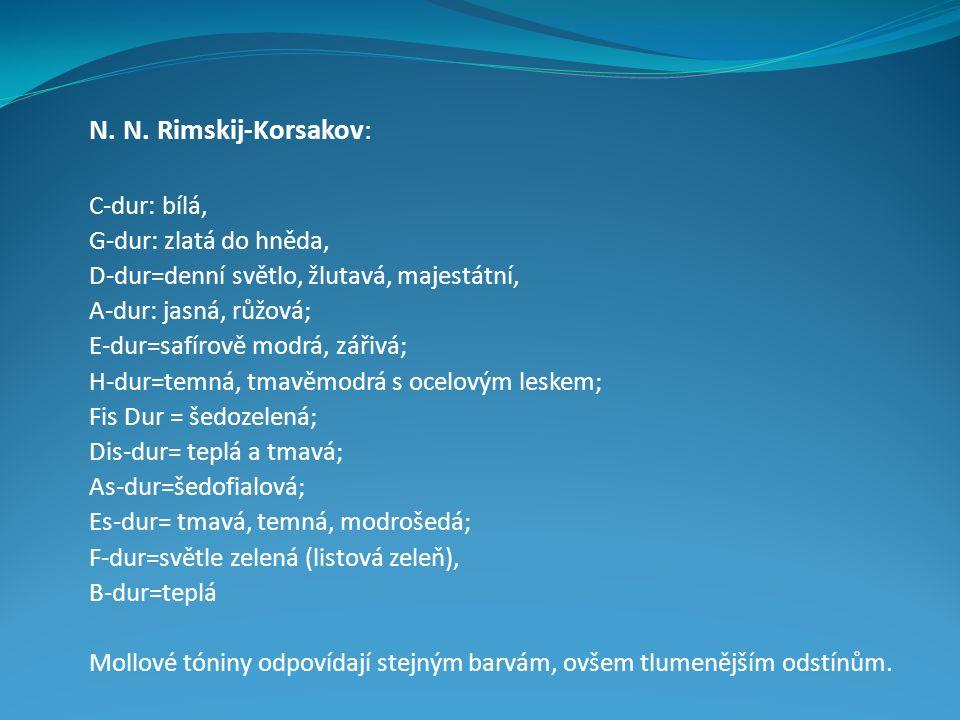 N. N. Rimskij-Korsakov: C-dur: bílá, G-dur: zlatá do hněda,