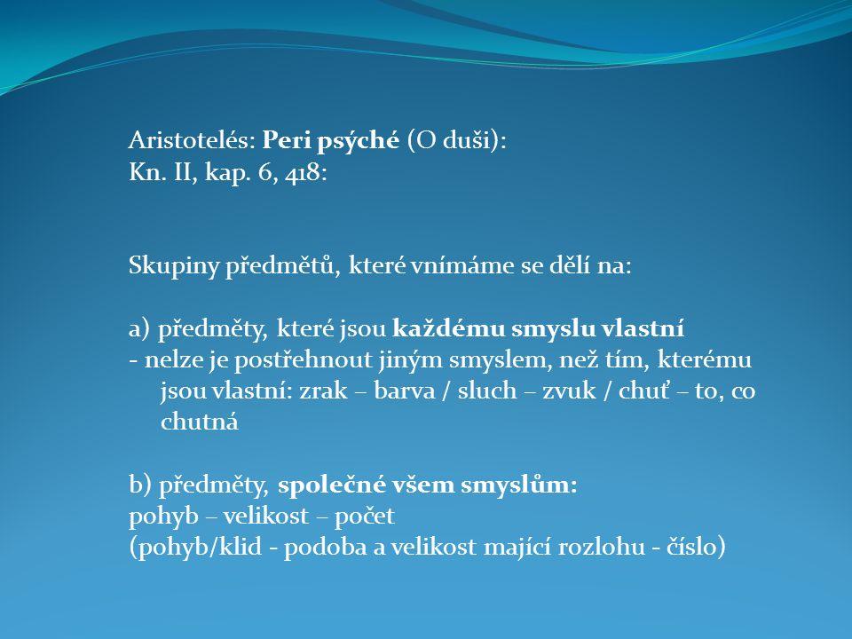 Aristotelés: Peri psýché (O duši):