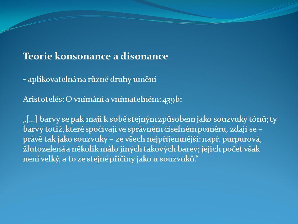 Teorie konsonance a disonance