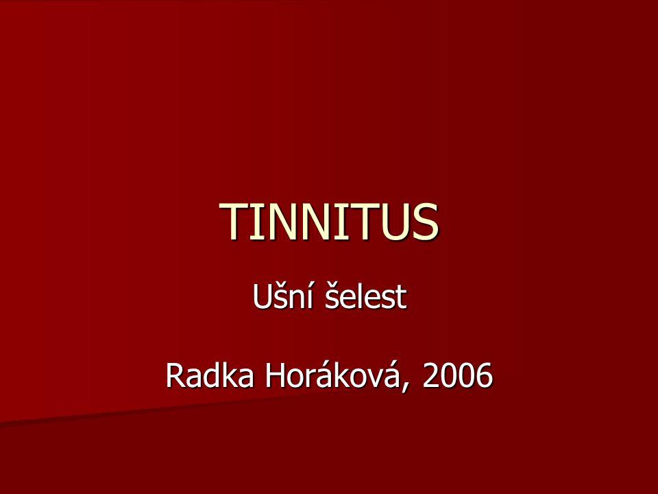 Ušní šelest Radka Horáková, 2006