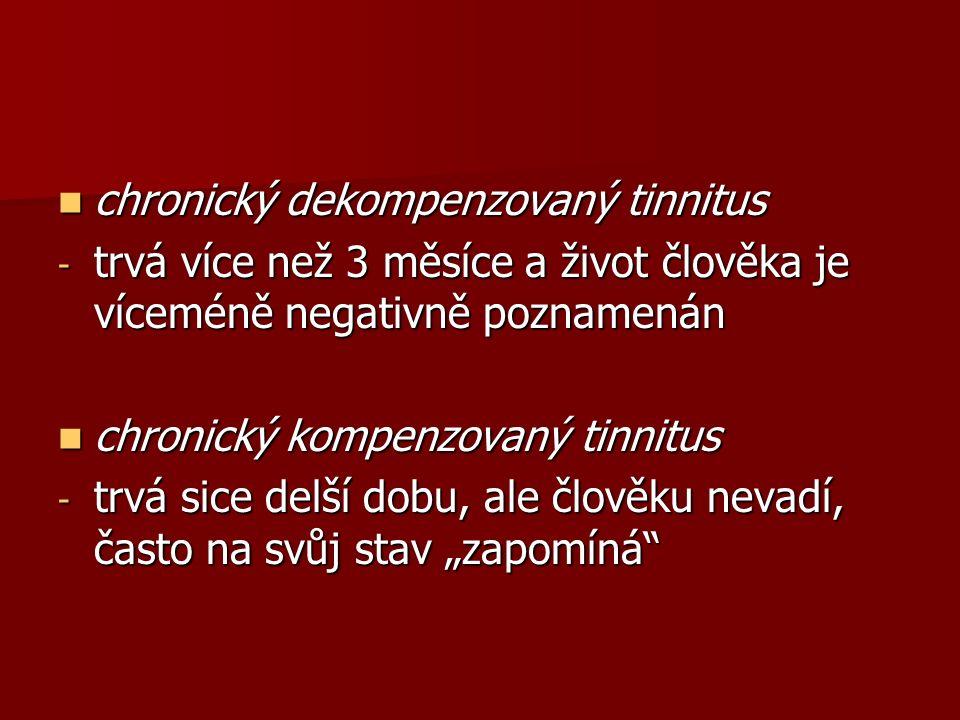chronický dekompenzovaný tinnitus