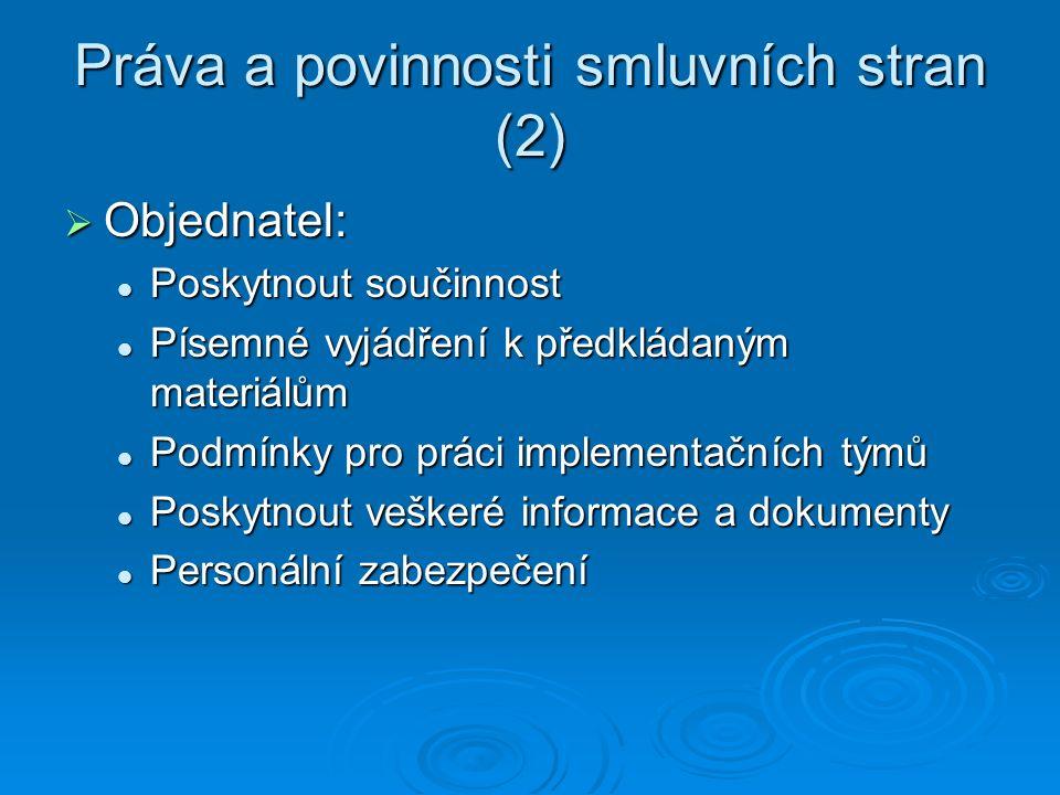 Práva a povinnosti smluvních stran (2)