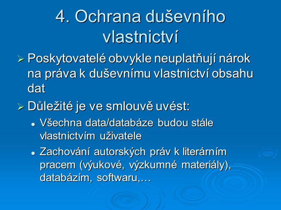 4. Ochrana duševního vlastnictví