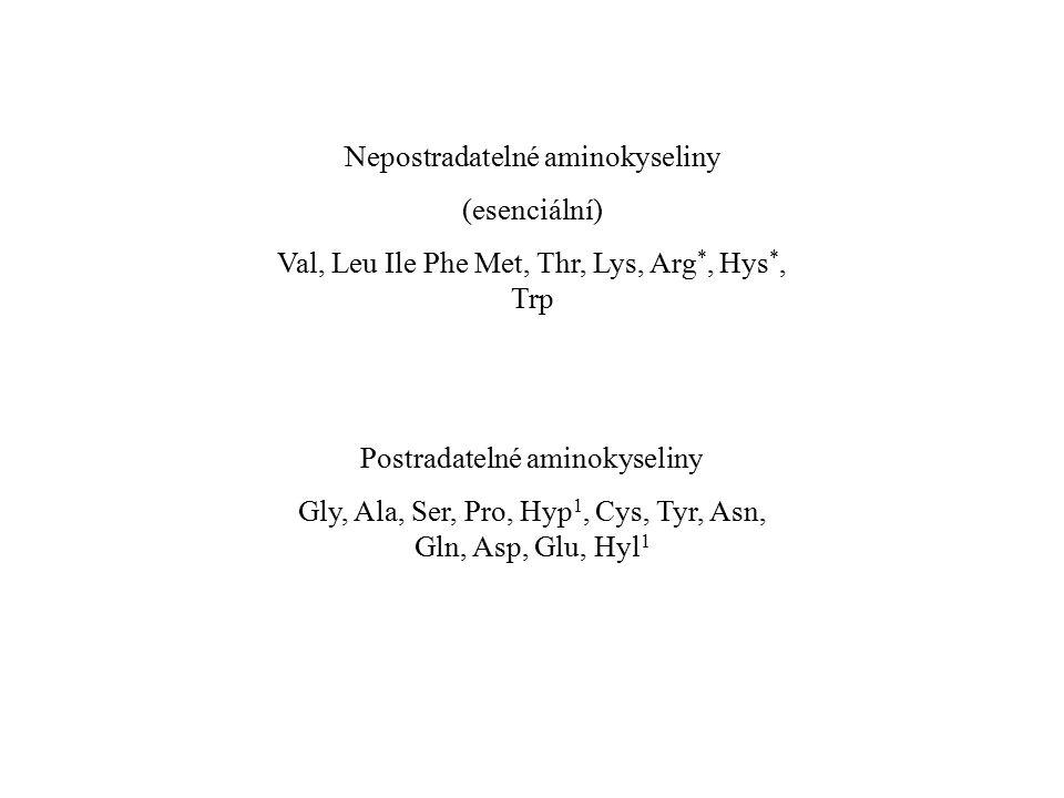 Nepostradatelné aminokyseliny (esenciální)