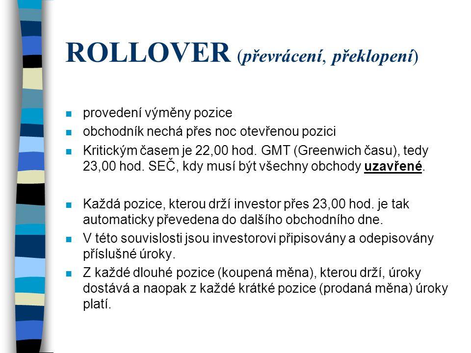 ROLLOVER (převrácení, překlopení)
