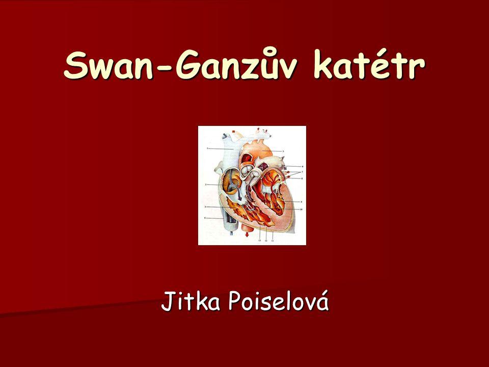 Swan-Ganzův katétr Jitka Poiselová