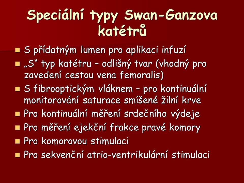 Speciální typy Swan-Ganzova katétrů