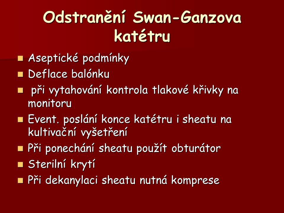 Odstranění Swan-Ganzova katétru