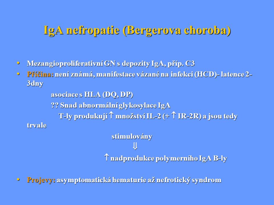 IgA nefropatie (Bergerova choroba)
