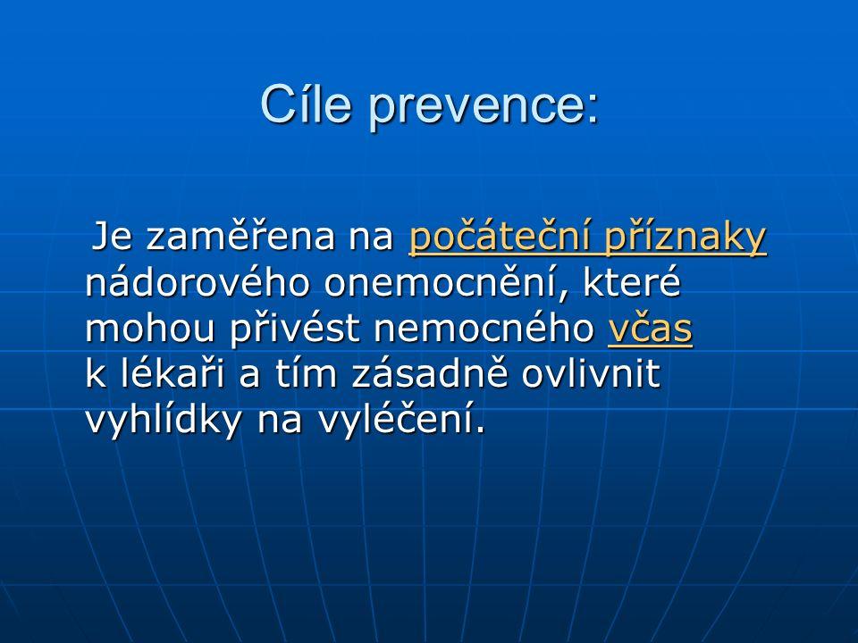 Cíle prevence: