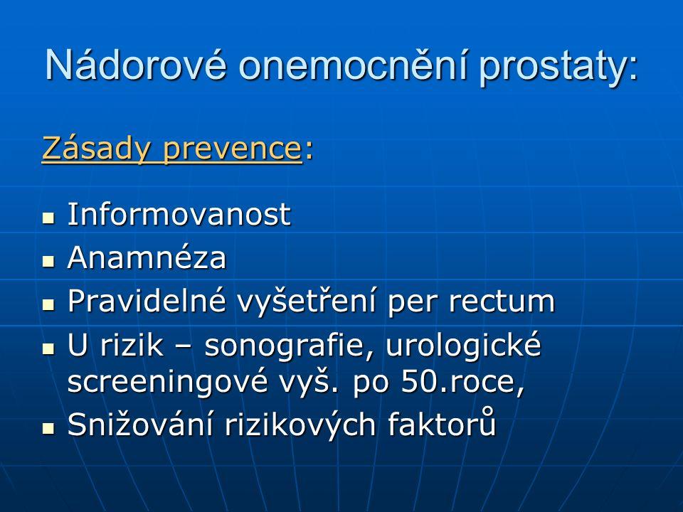Nádorové onemocnění prostaty: