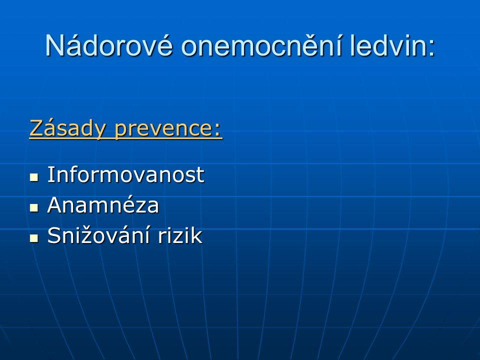 Nádorové onemocnění ledvin: