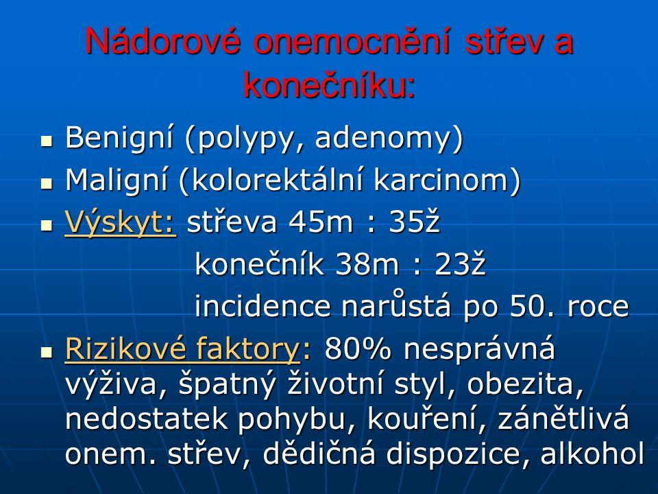 Nádorové onemocnění střev a konečníku:
