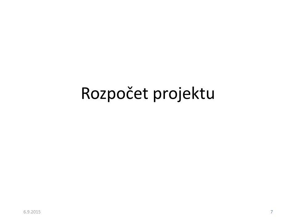Rozpočet projektu 22.4.2017