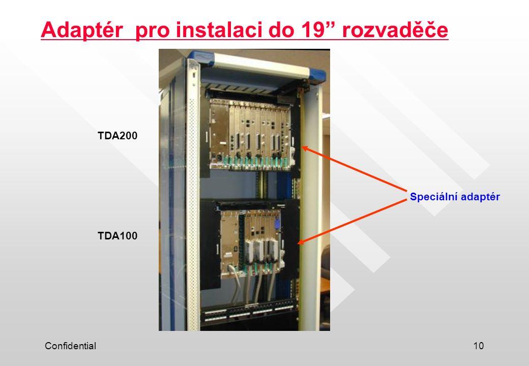Adaptér pro instalaci do 19 rozvaděče